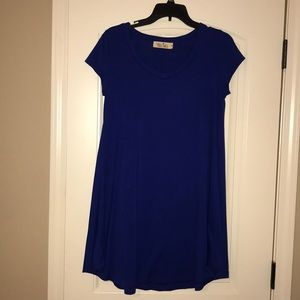 Blue game day boutique dress